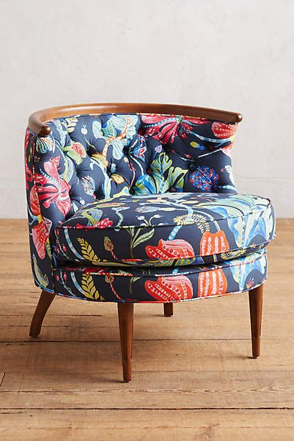 Printed Bixby Chair // Continuing my obsession with funky-shaped chairs in  crazy patterns - Thea-Printed Bixby Chair Anthropologie And Printing