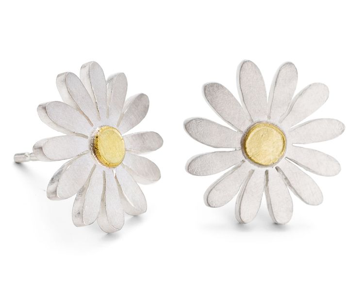Diana Greenwood Aster Earrings Compass And Maps Earrings 24k Gold Jewelry Stud Earrings