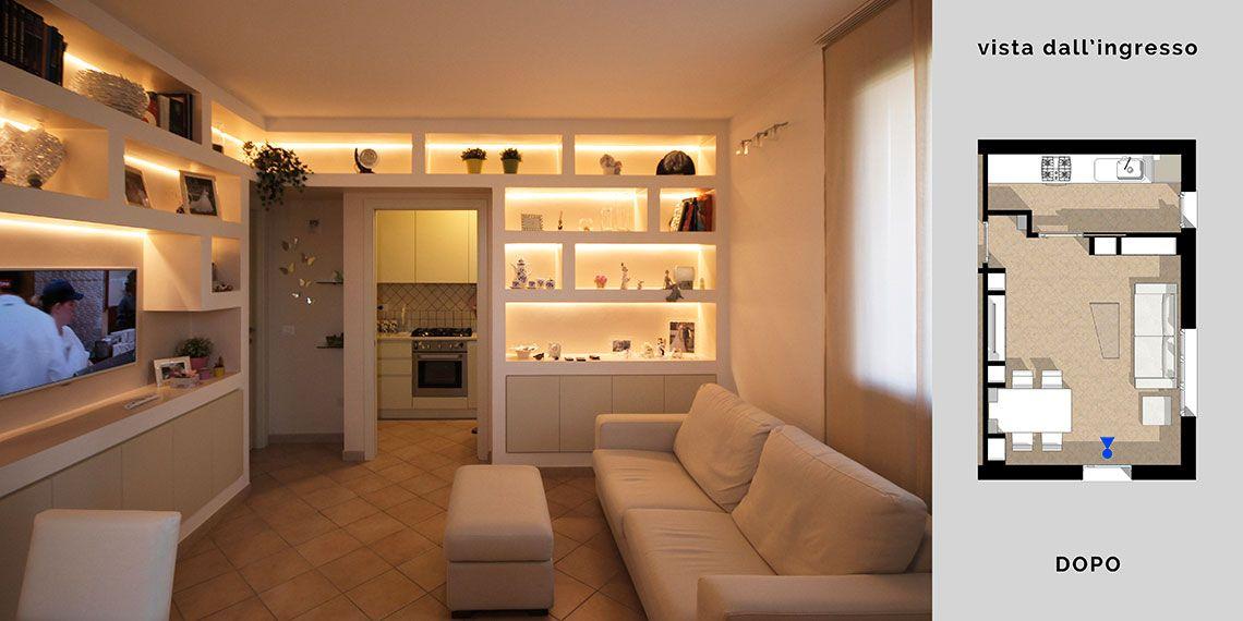 Arredare Soggiorno Librerie Cartongesso. Arredare il soggiorno con librerie in cartongesso e ...