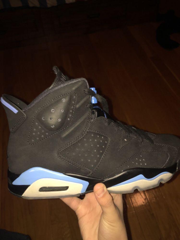 a72ff01b511d0b Air Jordan 6 Retro VI UNC Black University Blue North Carolina Size 9   fashion