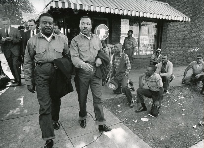 Charles Moore Martin Luther King Jr And Ralph Abernathy Walk