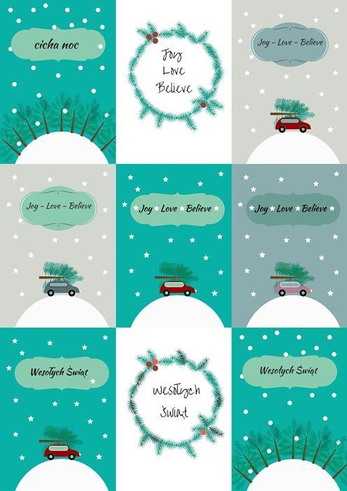 Free Printable Christmas Poster Plakaty Do Druku