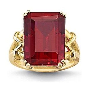 JCPenney   Created Ruby Ring 10K Yellow Gold   Shine Bright     JCPenney   Created Ruby Ring 10K Yellow Gold