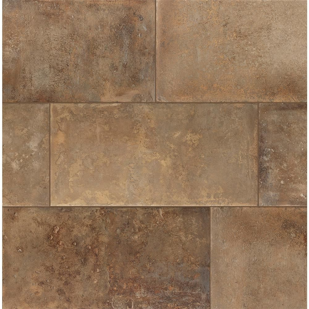 Florida Tile Home Collection Mesa Sand 12 In X 24 In Porcelain Floor And Wall Tile 13 62 Sq Ft Case Chdecd0512x24 The Home Depot Porcelain Flooring Flooring Stone Look Tile