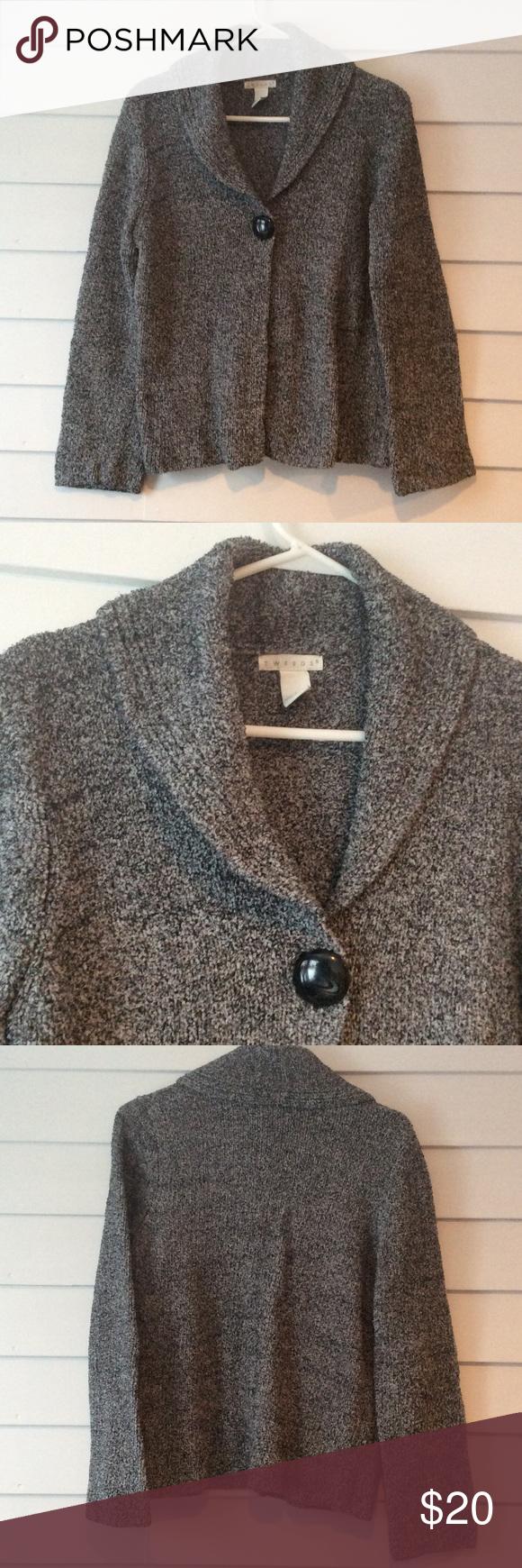 Super Cozy Heavy Gray Fuzzy Sweater Oversized