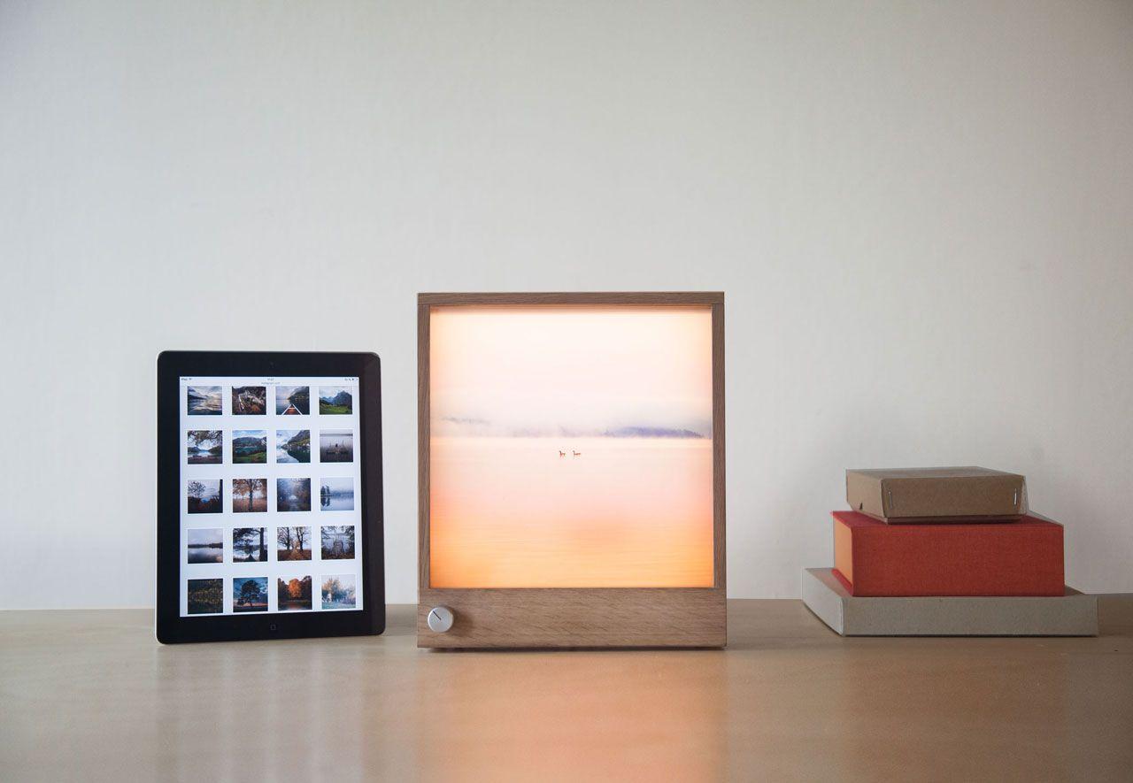 Frameworks An Led Wooden Picture Frame Wooden Picture Frames Frame Ikea Design