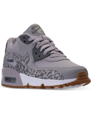 new arrival 12f44 8eb78 Nike Big Girls  Air Max 90 Leather Running Sneakers from Finish Line - Black  6.5