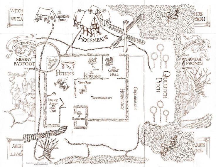 It's just an image of Harry Potter Marauders Map Printable with customized