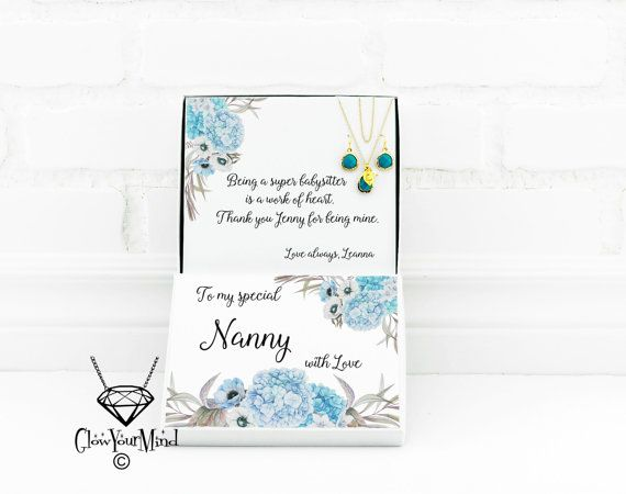 Gift For Nanny Babysitter Christmas By GlowYourMindJewelry
