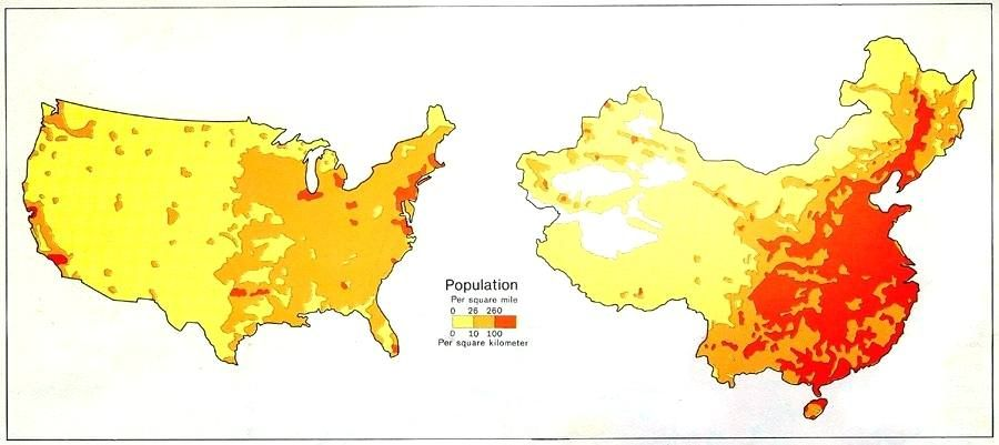 The US lower 48 and China side-by-side Comparison of ...