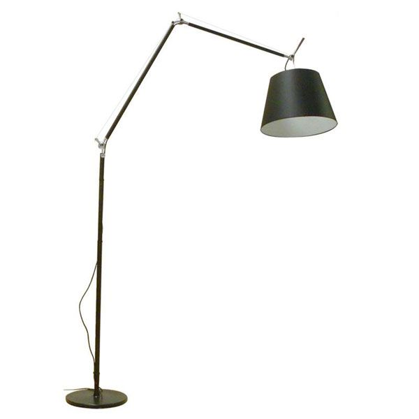 Tolomeo Classic Led Intergrated Motion Or Touch Floor Lamp Floor Lamp Lamp Black Floor Lamp