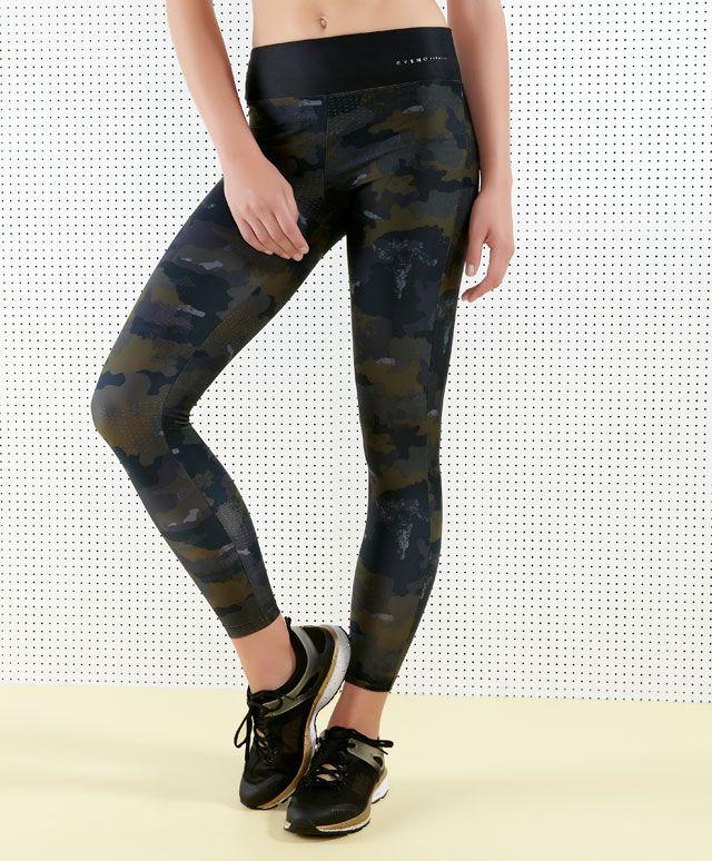 Fitness Leggings Camo: Κολάν παραλλαγής μέχρι τον αστράγαλο - OYSHO