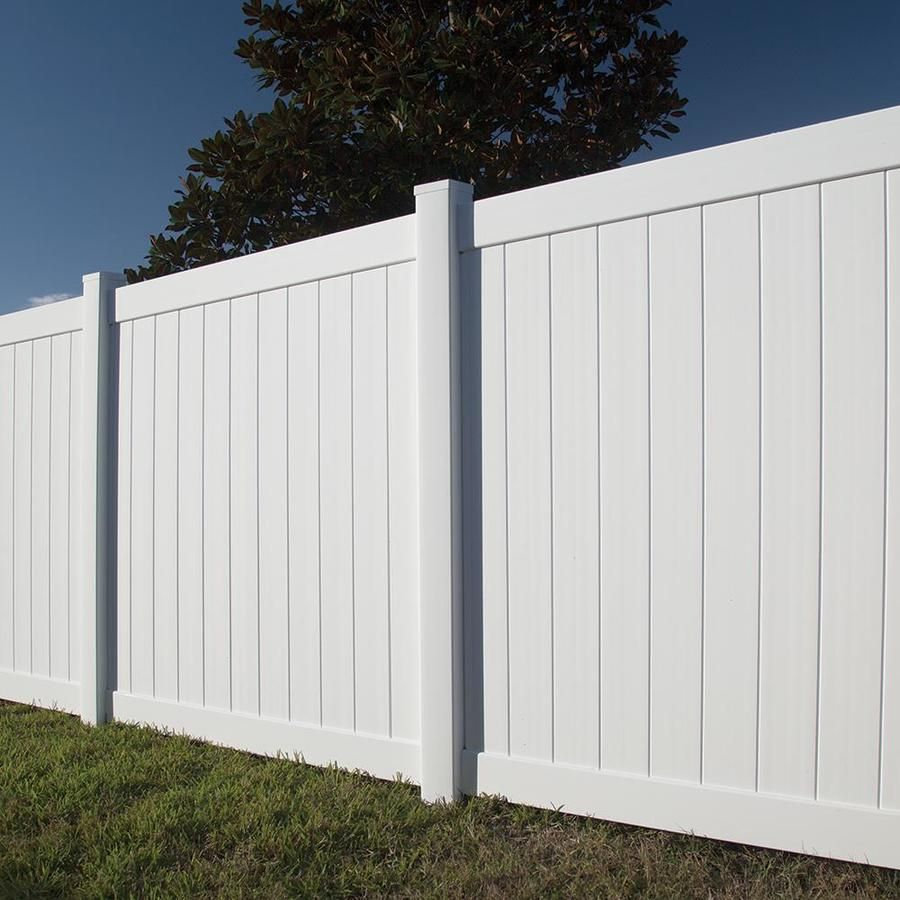 Freedom Actual 5 83 Ft X 5 56 Ft Ready To Assemble Hampton White Vinyl Panel At Lowes Com Vinyl Fence Panels Vinyl Panels Privacy Fence Panels