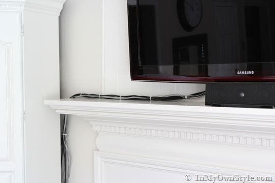 How to Hide Cords and Wires on a Wall Mounted Flat Screen TV | In My ...
