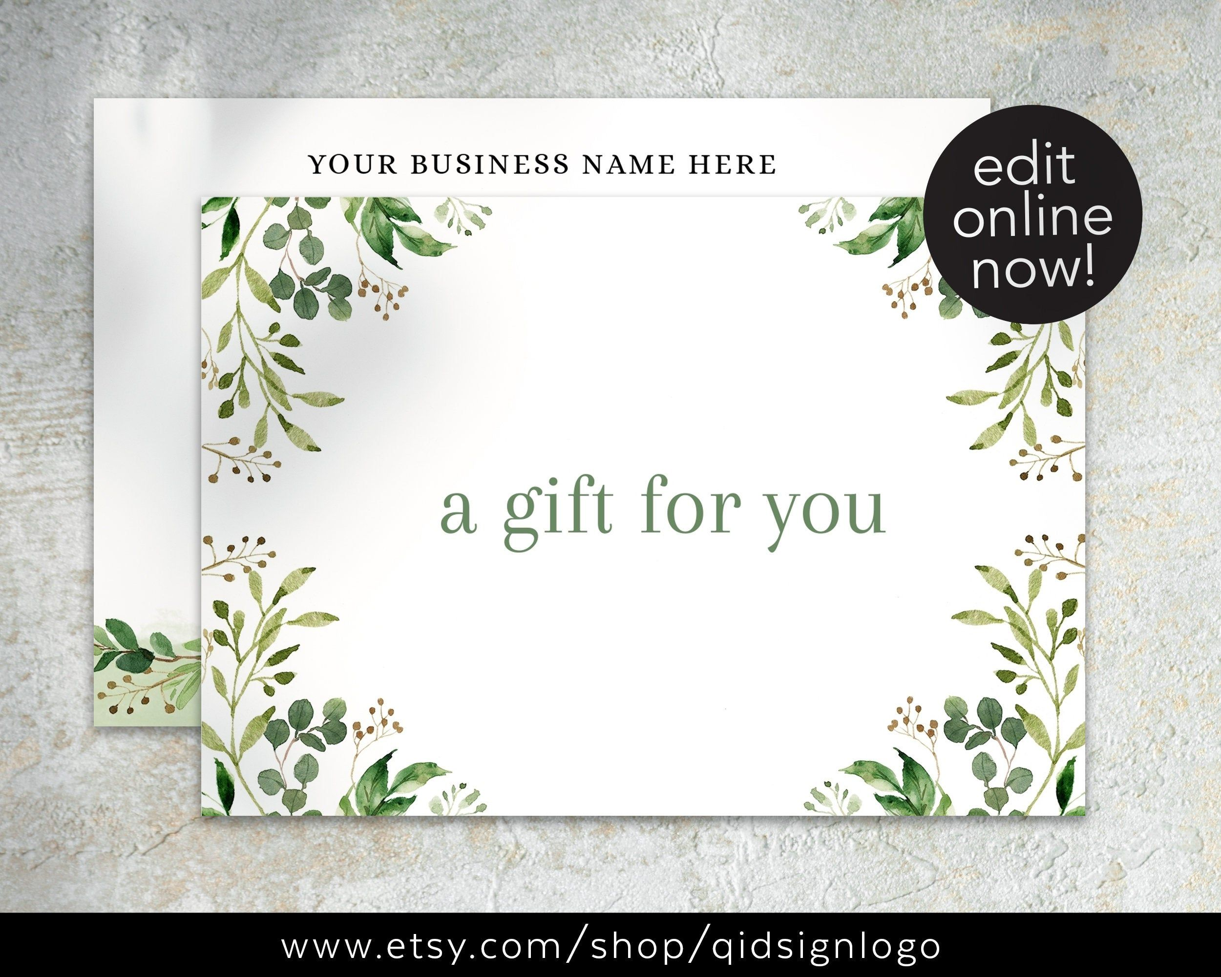 Premade Gift Card Template Editable Gift Certificate Etsy In 2021 Gift Card Template Spa Gift Card Card Template