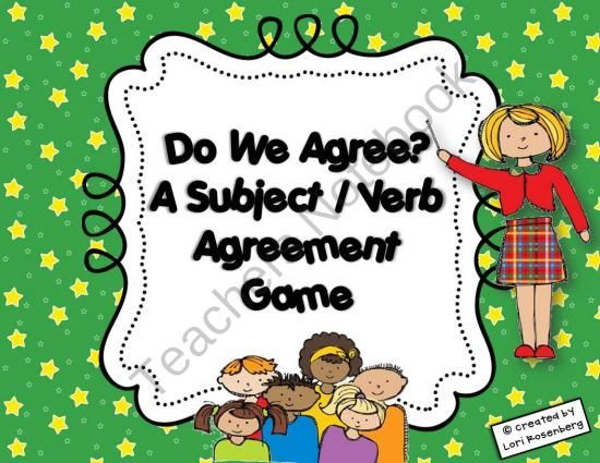 Do We Agree A Subject Verb Agreement Game Product From Lori