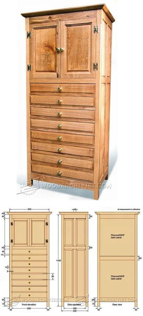 Tall Cabinet Plans (With images) | Woodworking furniture ...
