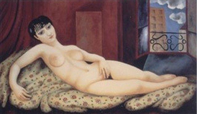 * Nu allongé (Kiki) 1924 - Moïse Kisling
