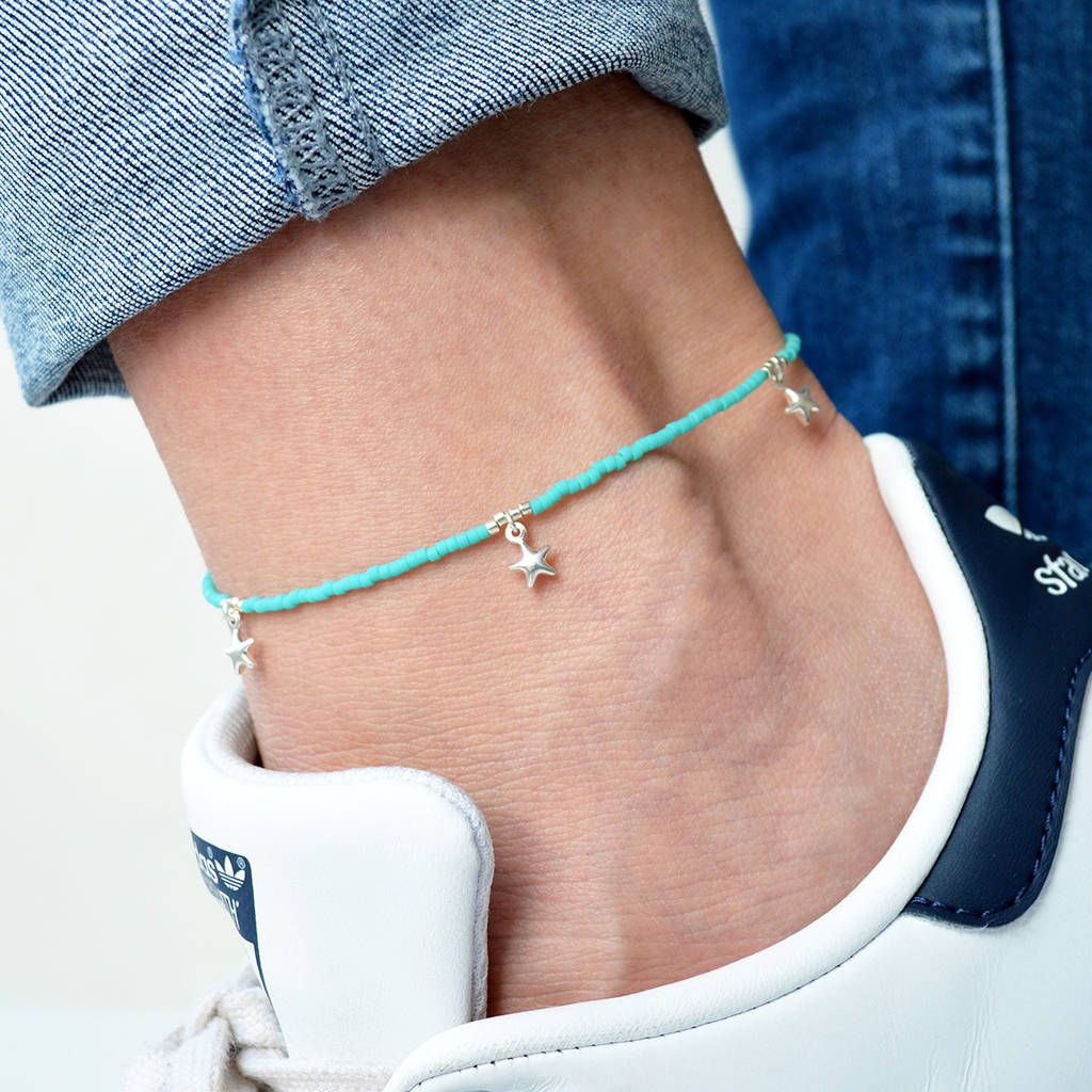 fba5888d01caa Beaded Star Anklet | Anklets | Anklets, Anklet jewelry, Jewelry