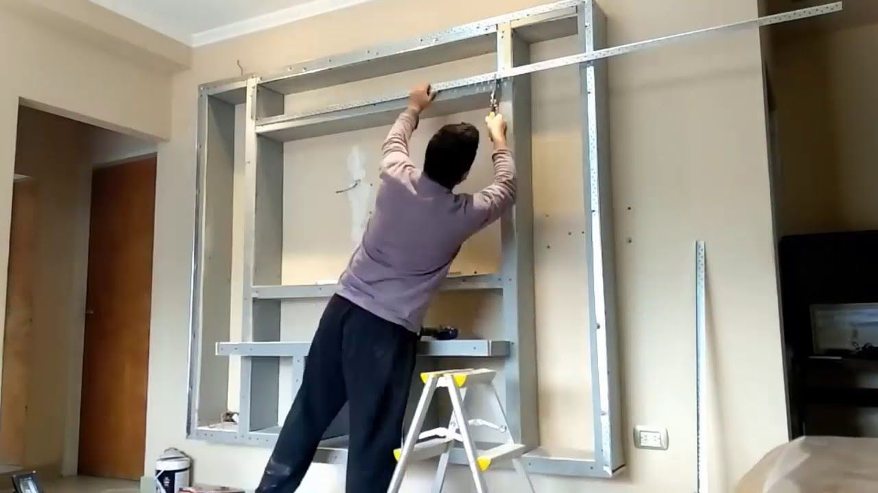 Tv Wand Selber Bauen Fur Heimkino Fernsehwand Selber Bauen Tv