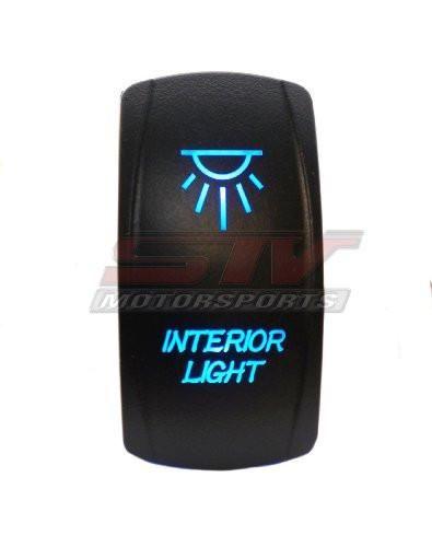Laser Blue Rocker Switch INTERIOR LIGHTS 20A 12V On/off LED