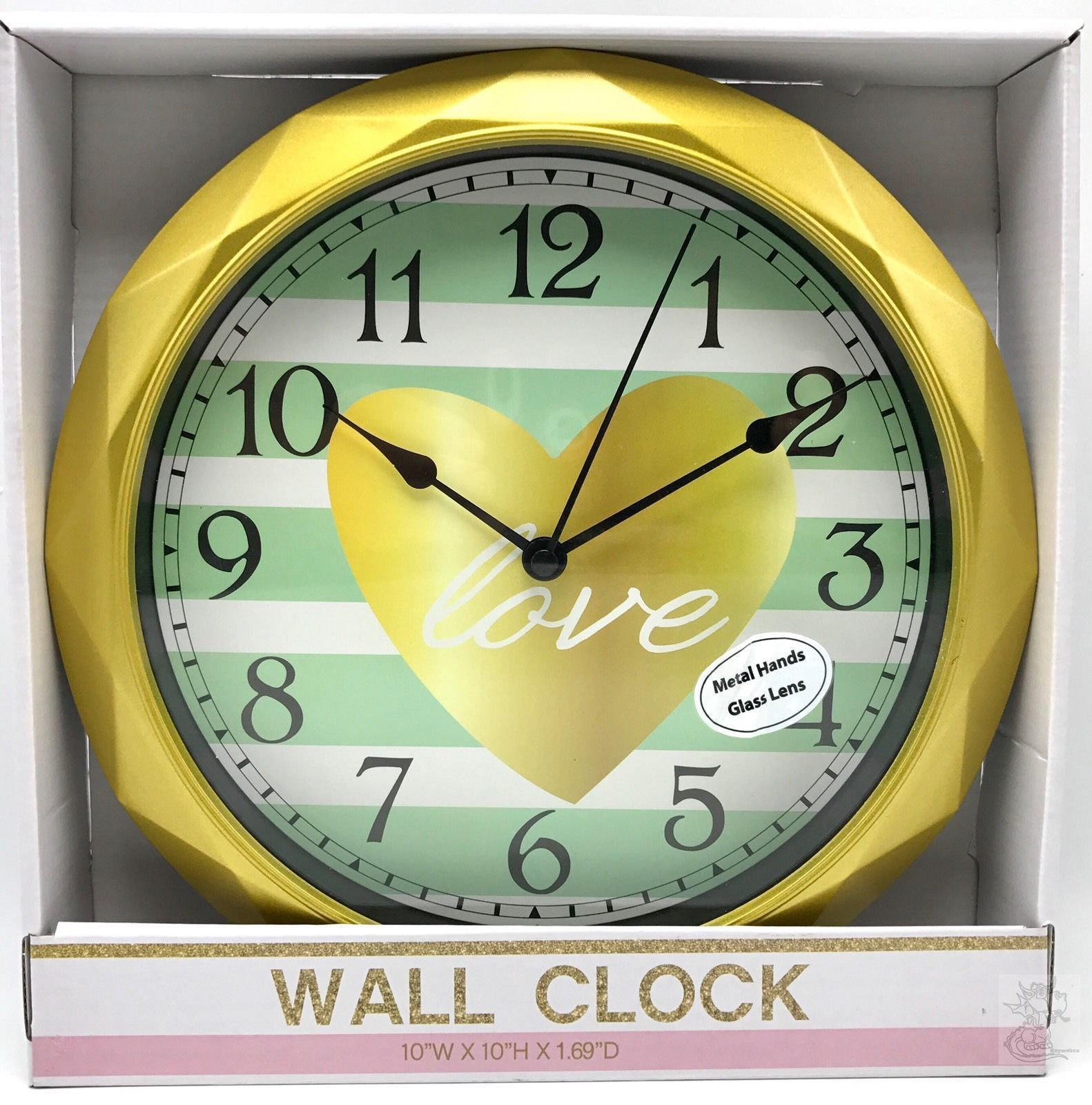 Wall Clock White 8.78 inch Sterling Noble Glass Lens New Sterling ...