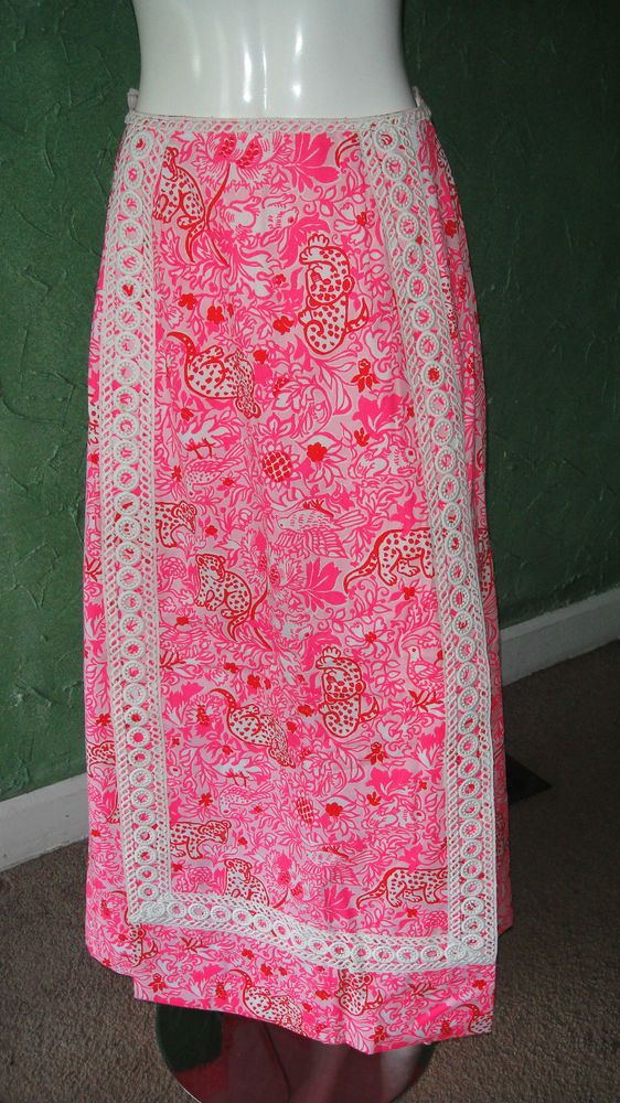 283cd7fb6 Vtg 60s 70s LILLY PULITZER The Lilly Vint Full Length Maxi Skirt Hawaiian  Lace #LillyPulitzer