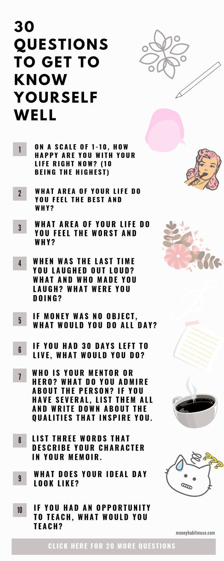 30 Questions to Get to Know Yourself Well