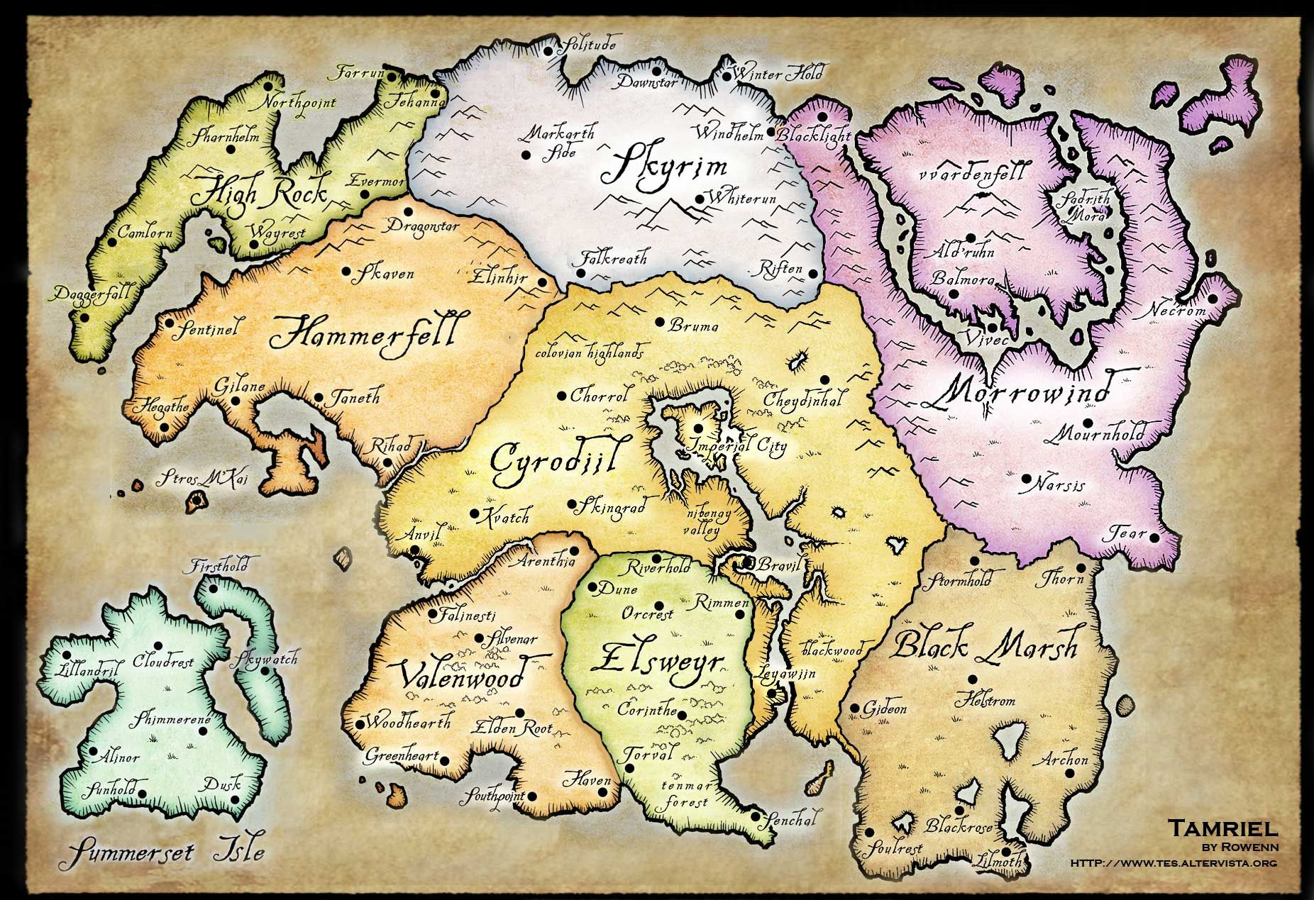 Elder scrolls tamriel world map unreal maps pinterest elder scrolls tamriel world map gumiabroncs Choice Image