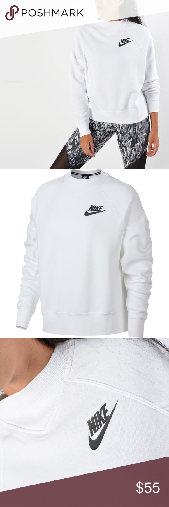 Predownload: Nike Sportswear Rally Crew Sweatshirt Nike Sportswear Clothes Design Crew Sweatshirts [ 1740 x 580 Pixel ]