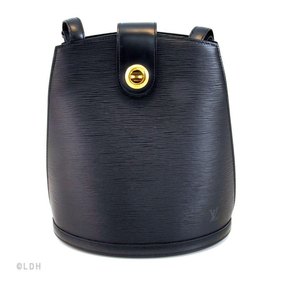 Louis Vuitton Black Epi Cluny (Authentic Pre Owned)