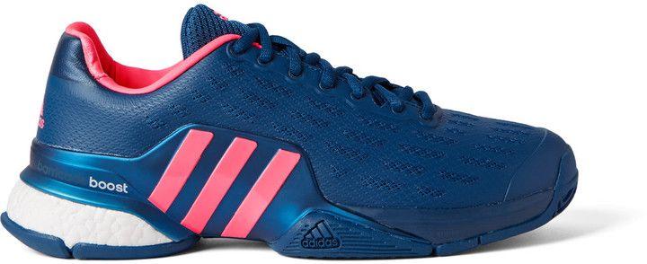 Adidas Sport Barricade 2016 Boost Coated-Mesh Tennis Sneakers ...