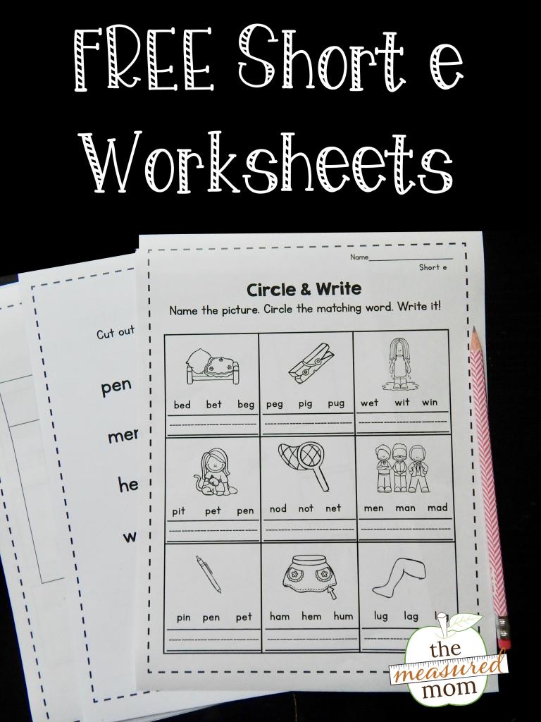 Short E Worksheets The Measured Mom Short E Words Short A Worksheets Phonics Worksheets Free [ 1024 x 768 Pixel ]