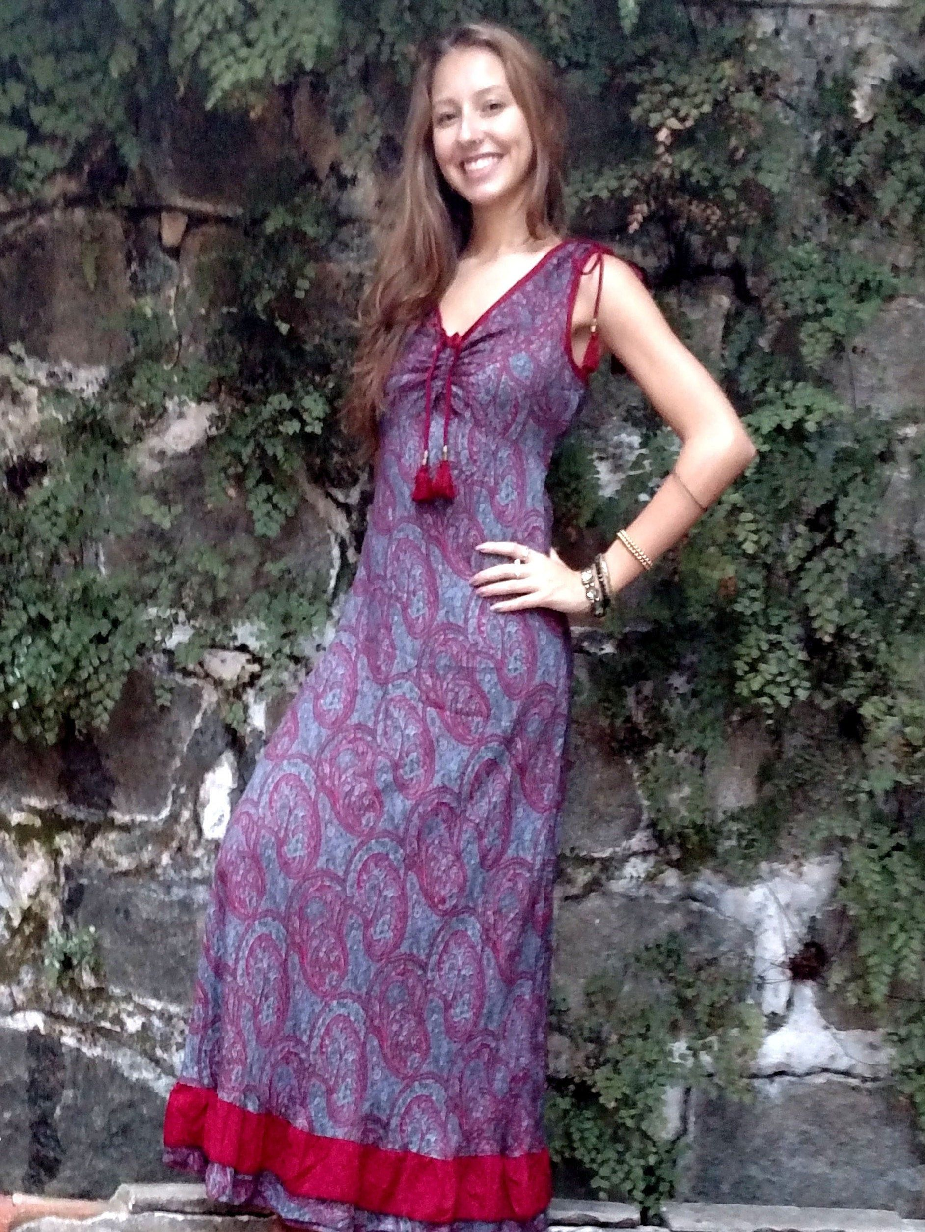 Long Summer Dress Maxi Dress Boho Maxi Dress Maxi Dress Pattern Casual Summer Dress Dress Size M L Cotton Viscose Long Dress Dresses Silk Dress Long Maxi Dress Green [ 2508 x 1884 Pixel ]