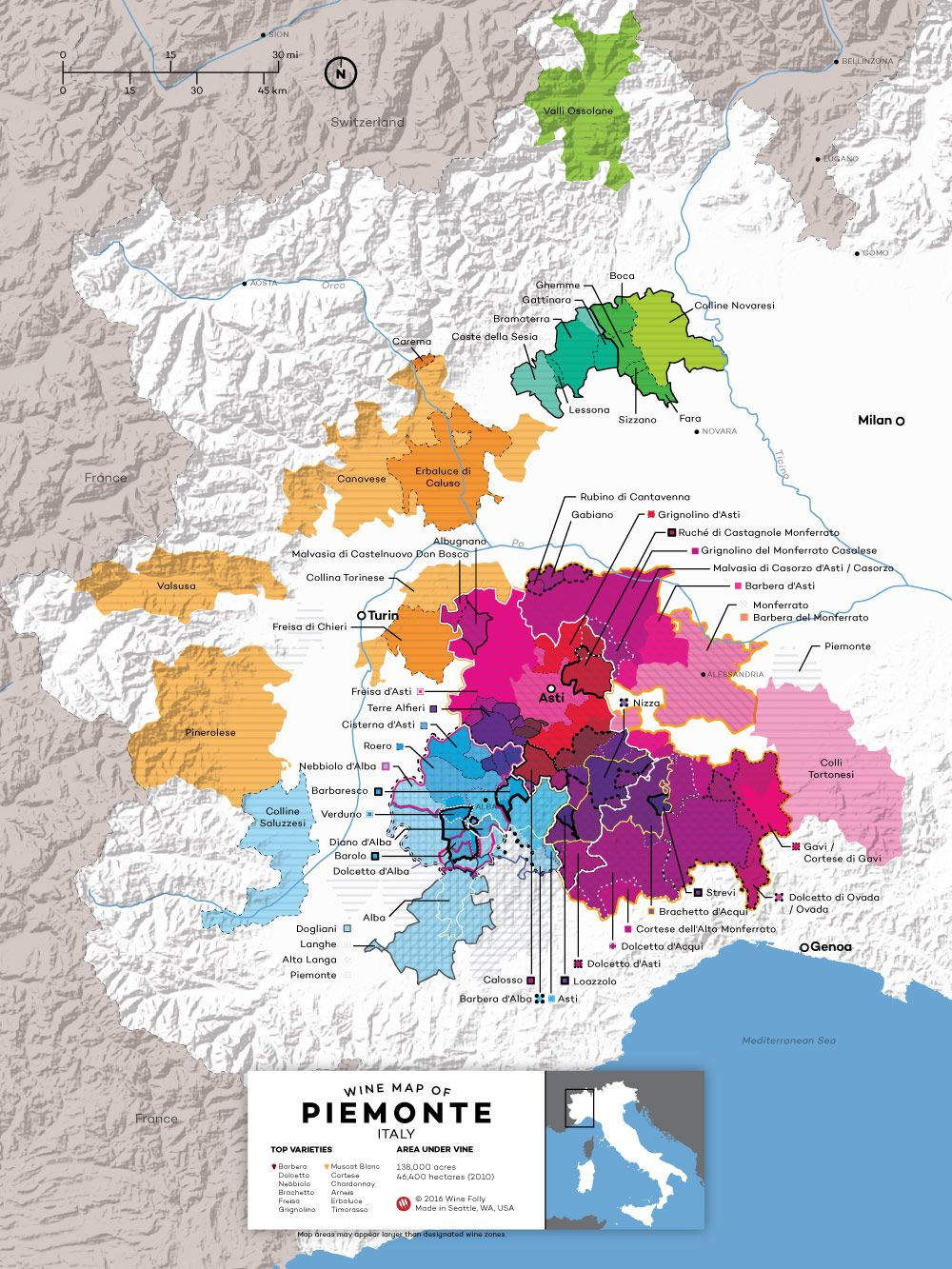 Wine Regions Italy Map.The Wines Of Piedmont Italy Docs And Docgs Wine Maps Pinterest