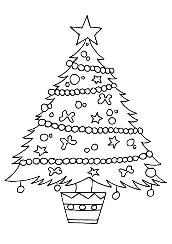 Print Coloring Image Momjunction Christmas Tree Coloring Page Printable Christmas Coloring Pages Tree Coloring Page