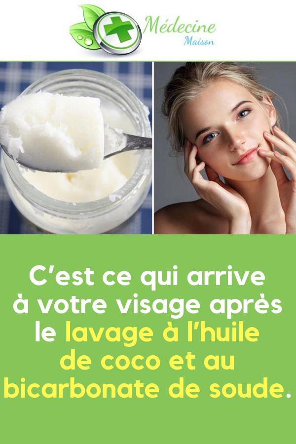 Cest ce qui arrive à votre visage après le lavage à lhuile de coco et au bicarbonate de soude