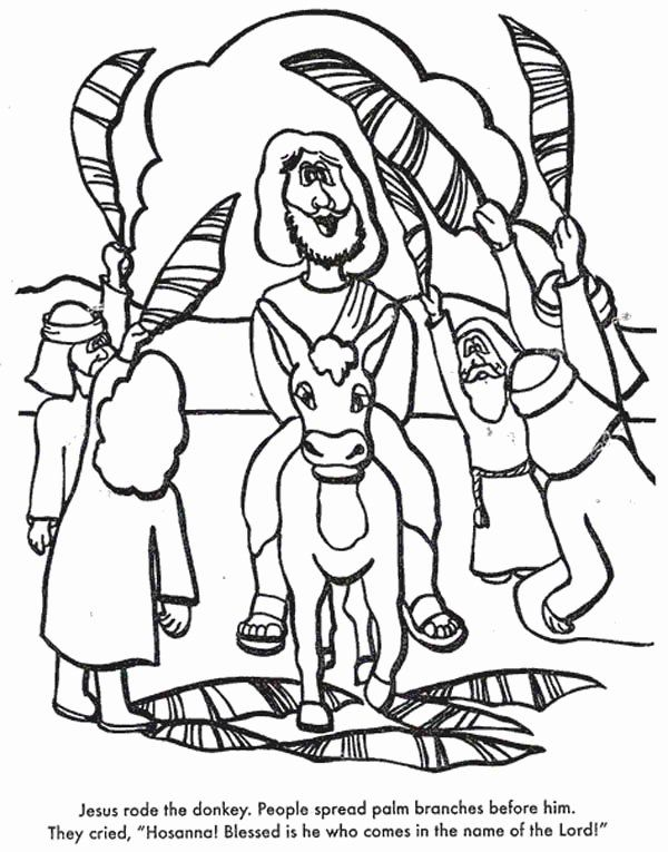 32 Palm Sunday Coloring Page In 2020 Palm Sunday Crafts