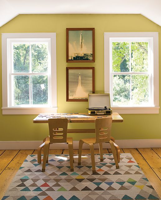 A Place To Learn! Wall Color: Green Hydrangea - Trim Color ...