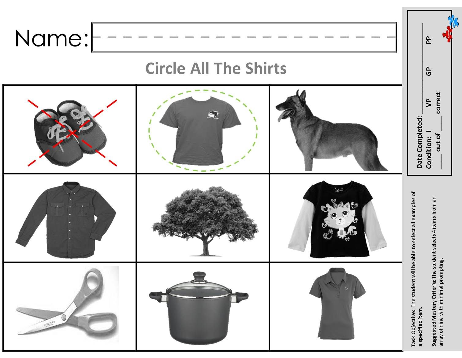 Select Examples Of An Object Available At Autismcomplete