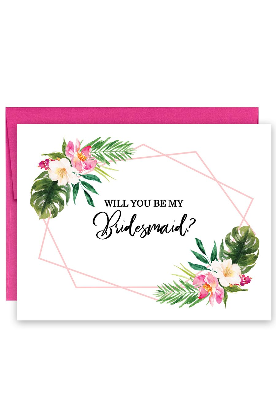 Tropical Will You Be My Bridesmaid Card Bridesmaid Cards Will You Be My Bridesmaid Be My Bridesmaid