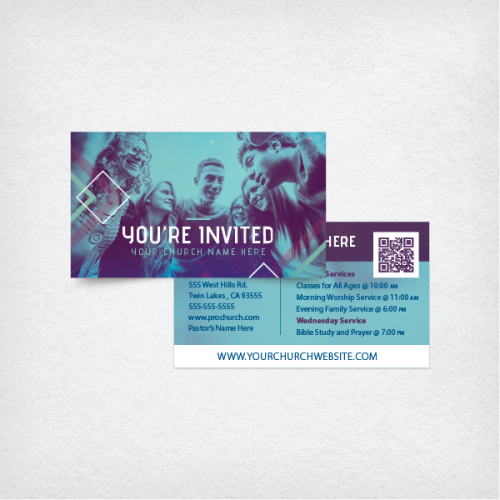 bible study invitation cards