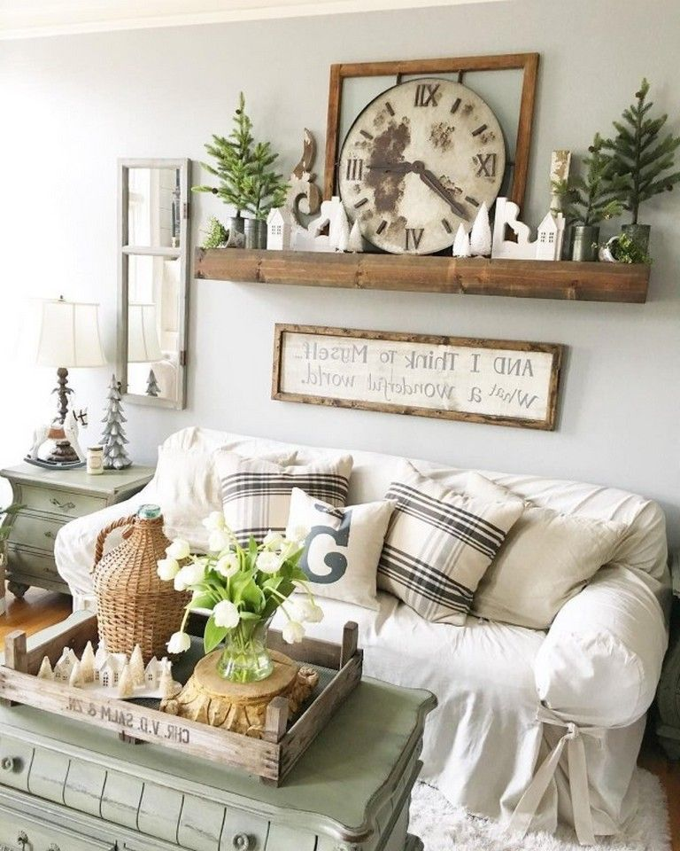 30+ Top Farmhouse Living Room Decor For Winter