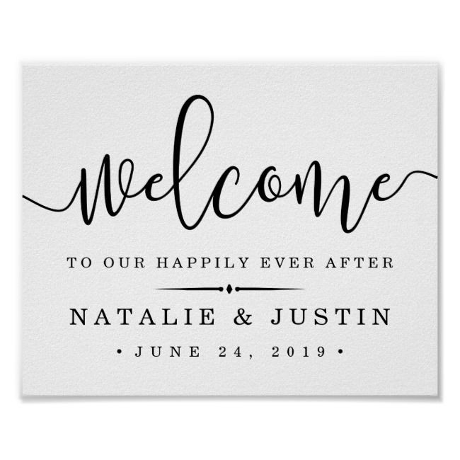 Happily Ever After | Wedding Welcome Sign | Zazzle.com #weddingwelcomesign