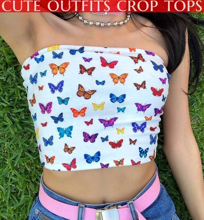 cute outfits crop tops