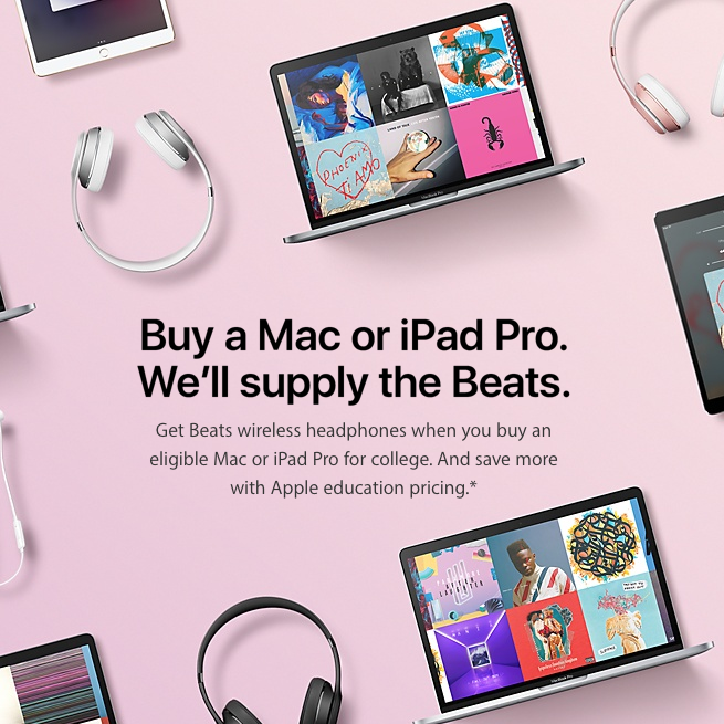 Deal Free Beats When You Buy A Mac Or Ipad Pro Future Proof M D Ipad Pro Apple Back To School Back To School Deals