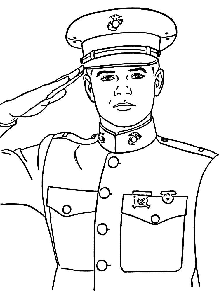 Army Soldier Coloring Pages Print Veterans Day Coloring Page