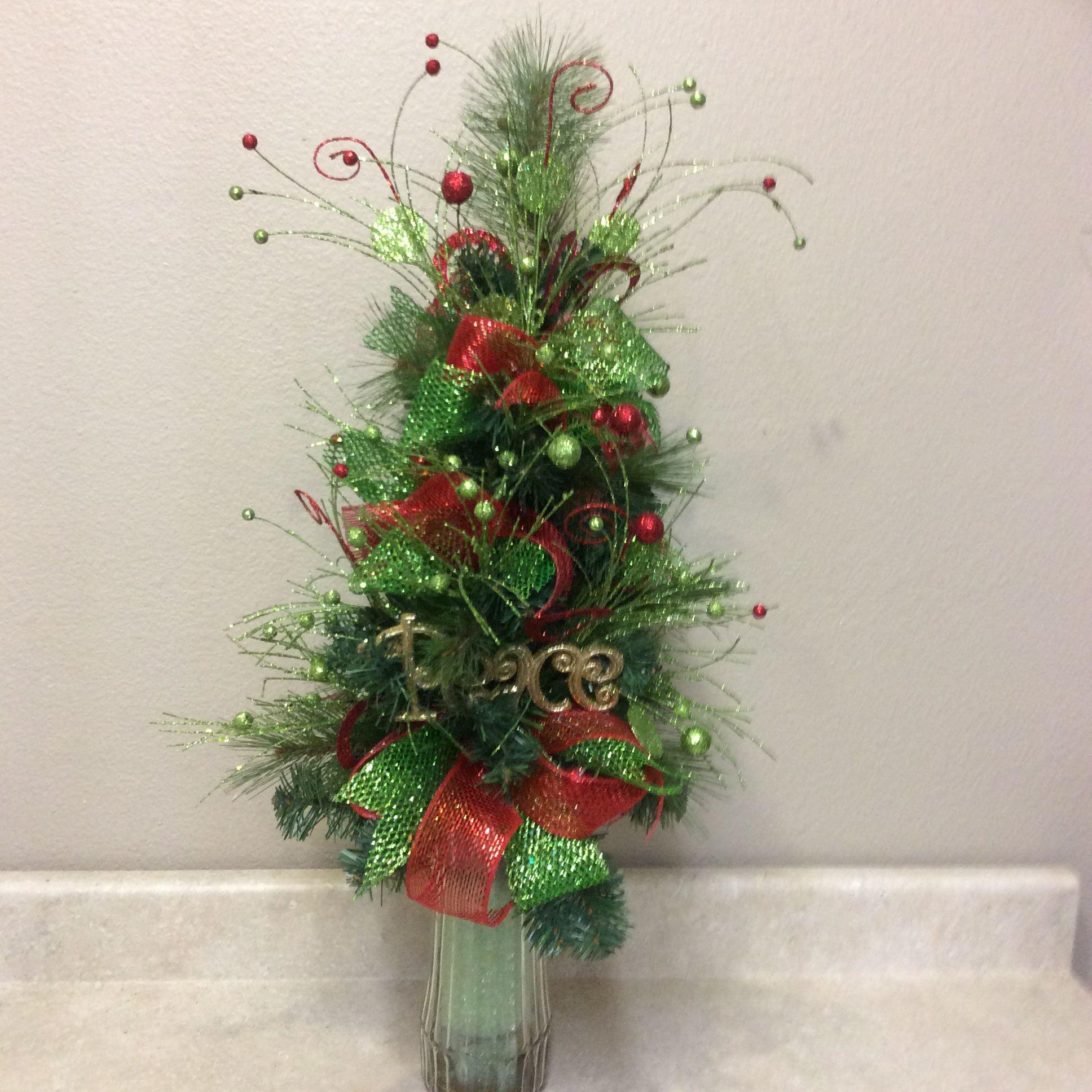 """Little Tree"" Cemetary arrangement. Christmas floral"