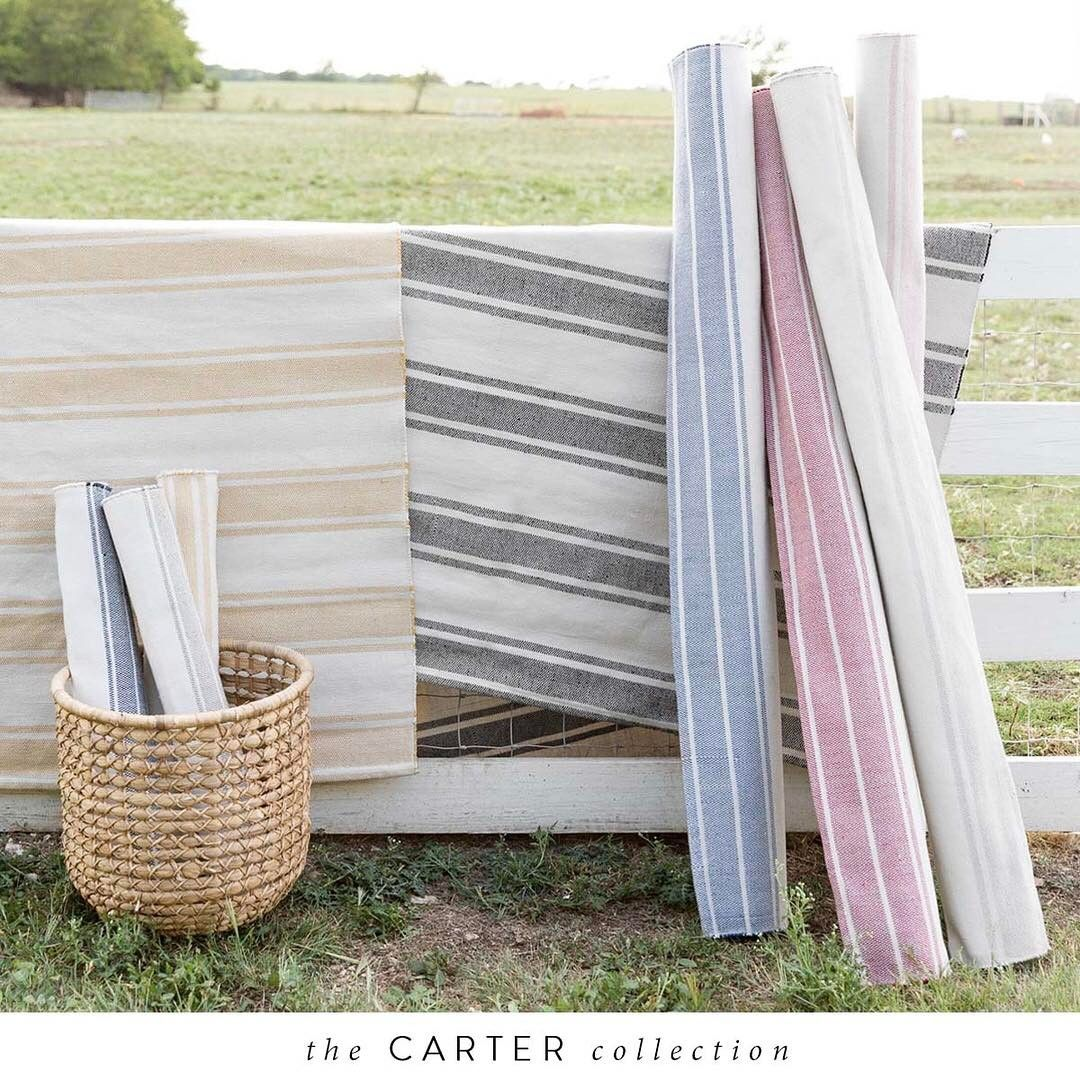 The Carter Collection is as timeless and durable as they come. The classic stripes and subdued colors ensure long-lasting style. See the full collection at the link in profile. #JoannaGainesxLoloi #MagnoliaHomeRugs @loloirugs