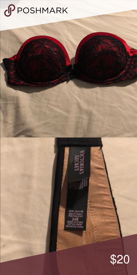 02860b14c92c4 Victorias secret very sexy multi way bras Never worn. No tags. One  red black  one purple fuscia. Pink is just strapless
